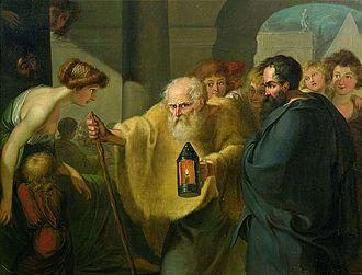 Johann Tischbein (pittore TEDESCO), Diogene cerca l'uomo.