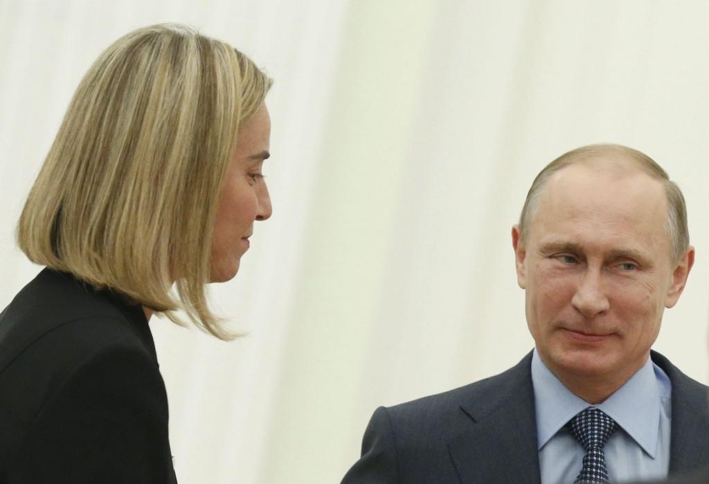 Mogherini e Putin