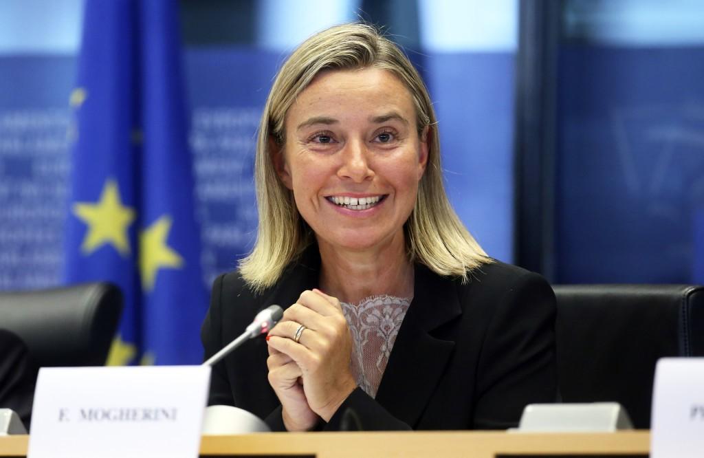 Federica Mogherini, Alto Rappresentate dell'Unione Europea per la Politica Estera e della Sicurezza.