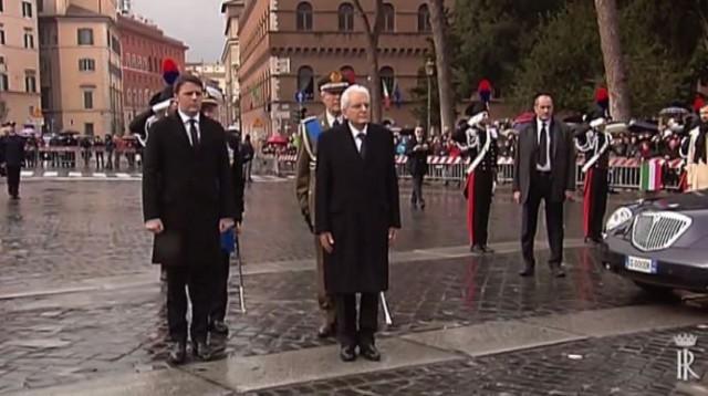 Il Presidente del Consiglio, Matteo Renzi e Sergio Mattarella, neo Presidente della Repubblica italiana
