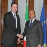 Incontro tra il ministro Angelino Alfano e il direttore della Federal Bureau of Investigation James Comey