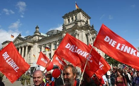 Germany's Die Linke party has campaigned in support of refugees and immigrants. AFP photo.