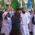 A peaceful procession this is the way of civil coexistence of peoples ...
