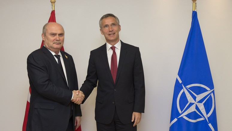 Minister of Foreign Affairs of Turkey, Feridun Sinirlioglu with NATO Secretary General Jens Stoltenberg