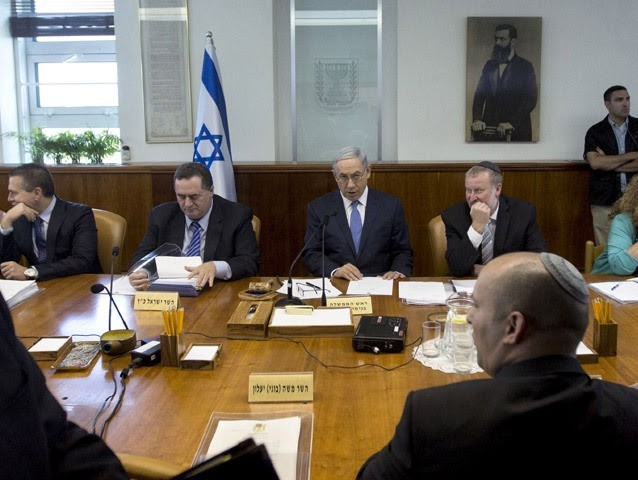 Israel Cabinet meeting. Reuters archive photo.