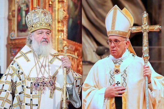 il Patriarca Russo Ortodosso Kirill e Papa Francesco (incontro storico a Cuba)