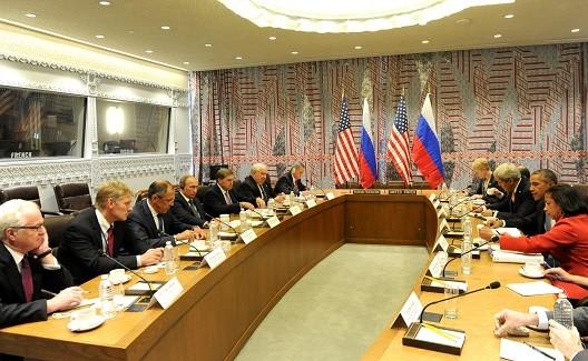 Photo: Meeting between US President Barack Obama and Russian President Vladimir Putin. September 29, 2015. Attribution: Kremlin.ru via Wikimedia Commons.
